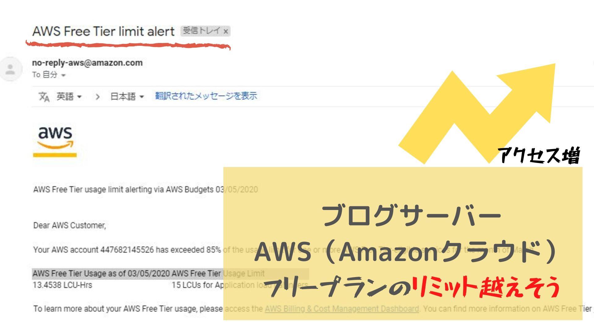 AmazonクラウドLIMIT警告